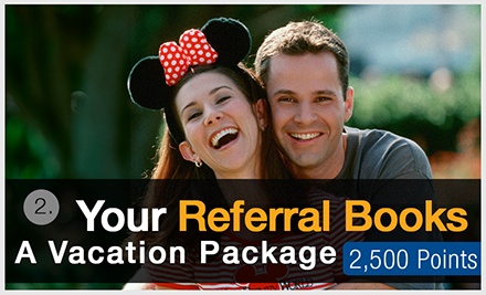 Your Referral Books a Vacation Package
